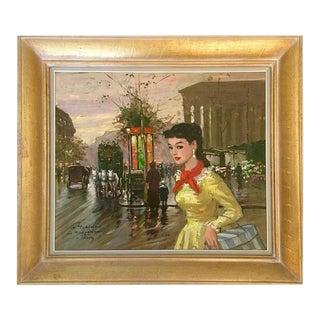 "Francois Gerome 1950s ""Le Madeleine"" Original Oil Painting"