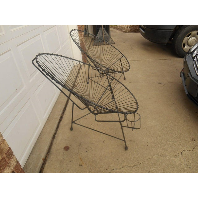 Image of Mid-Century Modern Metal Egg Chairs - A Pair
