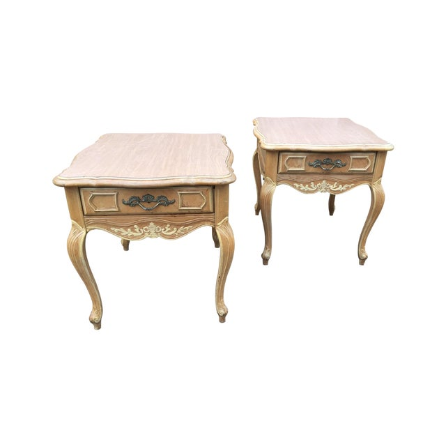 Vintage French Country Style End Tables Pair Chairish