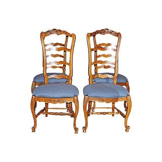 Country French Ladderback Chairs - Set of 4