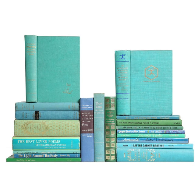 "Image of Mid Century ""Ocean"" Poetry Books - Set of 20"