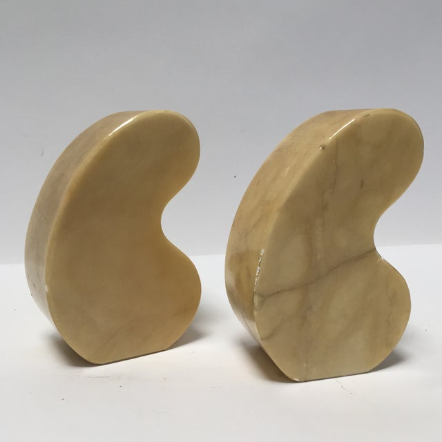 Italian Alabaster Bookends Quotation Mark - Image 4 of 7