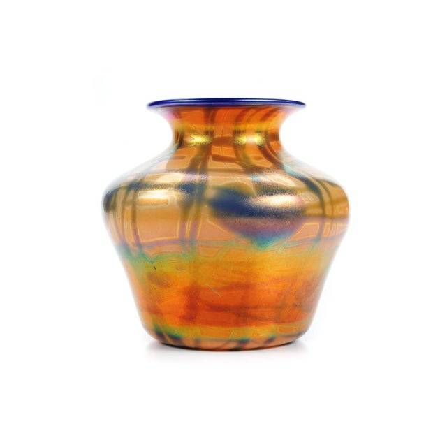 Imperial Art Glass Heart & Vine Decor Vases- A Pair - Image 4 of 9
