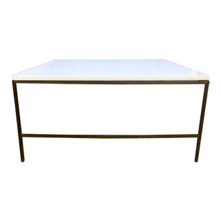 Paul McCobb Brass and Vitrolite Coffee Table