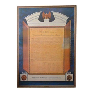 Commemorative Declaration of Independence Lithograph