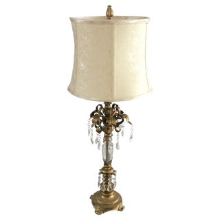 Tall Gold Gilt Tole Table Lamp