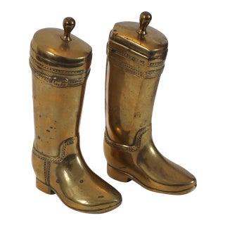 Brass Riding Boot Bookends, Pair