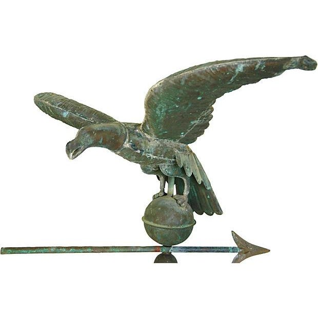 Vintage Copper Eagle Weathervane with Stand - Image 3 of 7