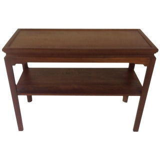 Mid-Century Walnut Stowe & Davis Console Table