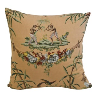 Scalamandre Tropical Motif Pillow
