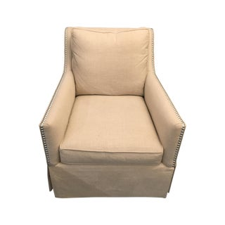 CR Laine Skirted Linen Occassional Chair