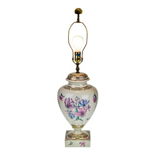 Vintage Hand Painted Porcelain Table Lamp