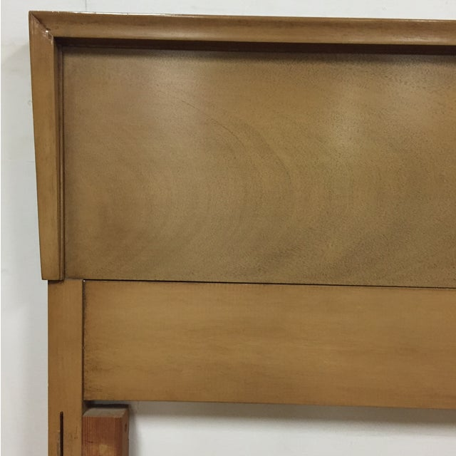 Bleached Mahogany Full Headboard - Image 3 of 5