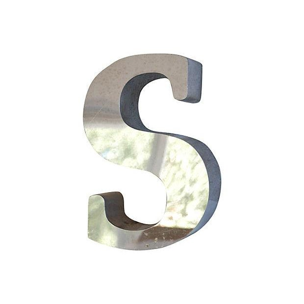 1970s Stainless Steel Marquee Letter S - Image 3 of 4