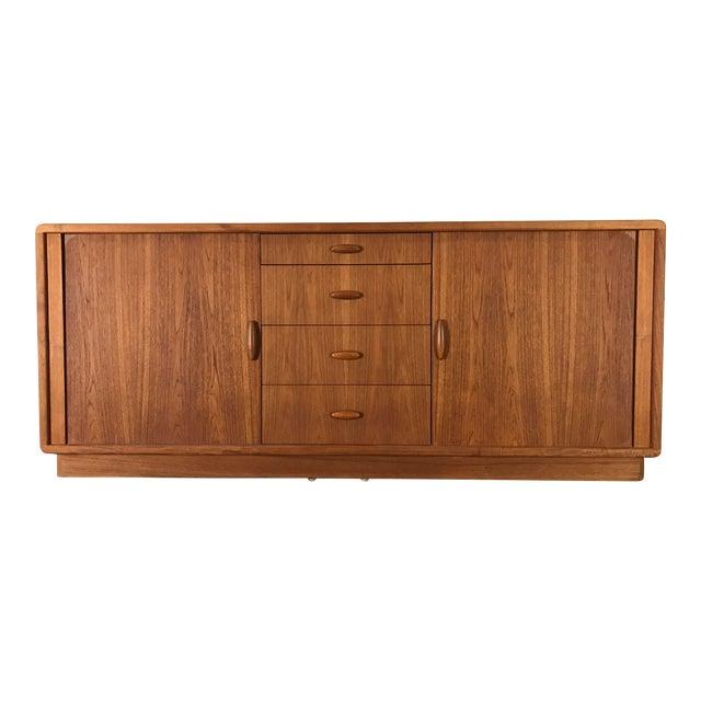 Dyrlund Danish Teak Tambour Front Dresser - Image 1 of 7