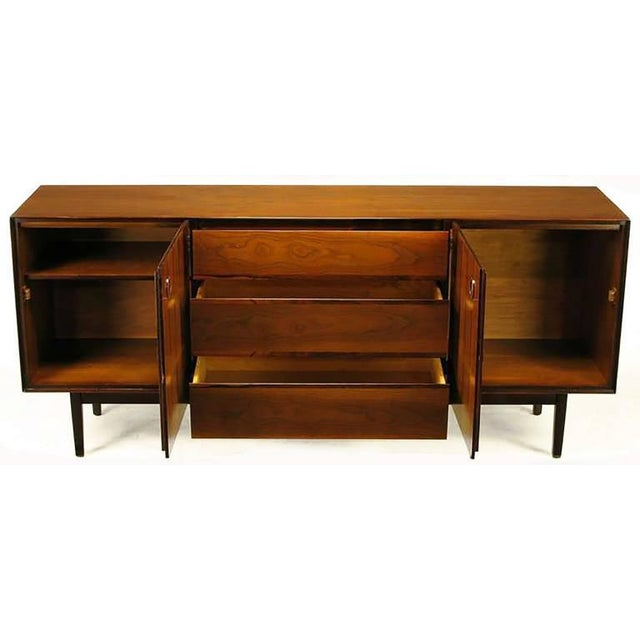 Image of Rosewood and Walnut Parquetry Front Credenza