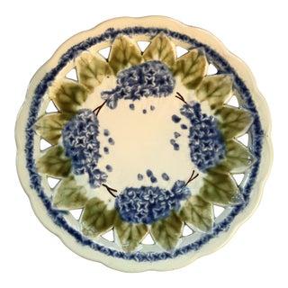 Hydrangea Majolica Plate