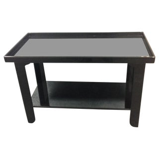 Black Lacquer Donghia Table With Shelf