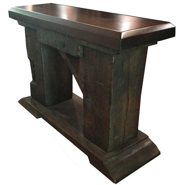 Rustic Custom Made Salvaged Barn Wood Bench - Image 5 of 8