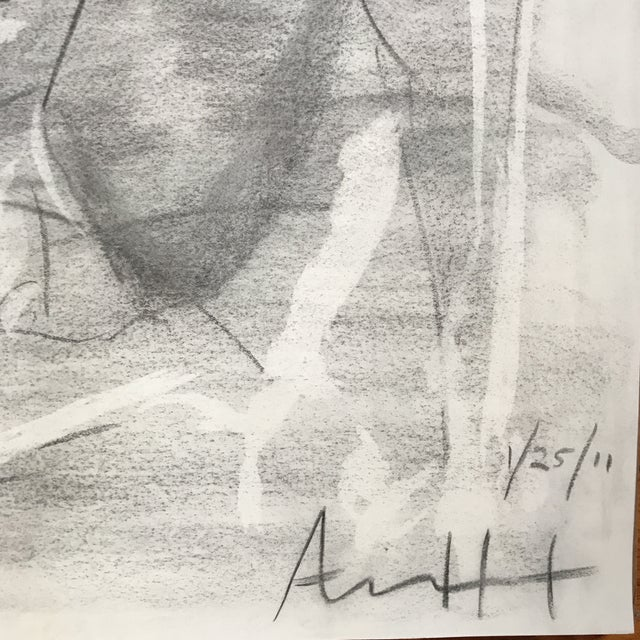 Seated Male Nude Drawing - Image 4 of 4