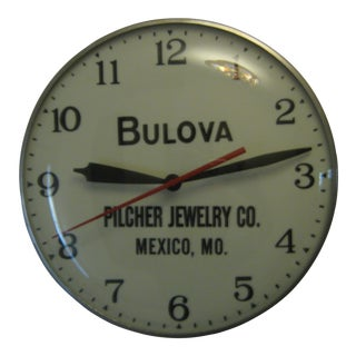 Bulova Pilcher Jewelry Advertising Lighted Clock