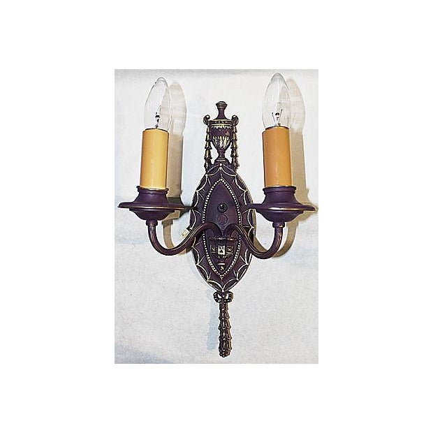 Painted Brass Sconce - Image 2 of 5
