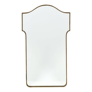 French Mid-Century Brass Mirror