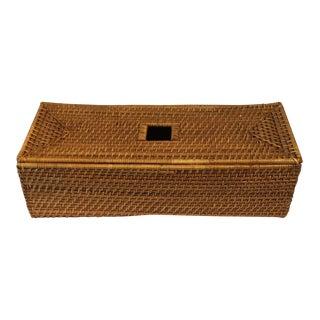 Mid-Century Wicker Box