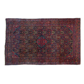 "Vintage Persian Sarouk Rug - 4'3"" x 6'10"""