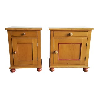 Rustic Country His & Hers Nightstands - Pair