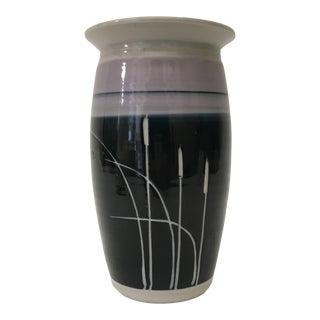 Handmade Purple & Blue Ceramic Vase