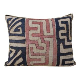 Large Custom African Kuba Cloth Pillow