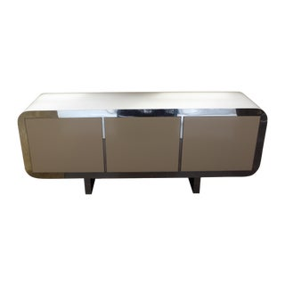Mid Century Modern Laminate Lacquered Credenza