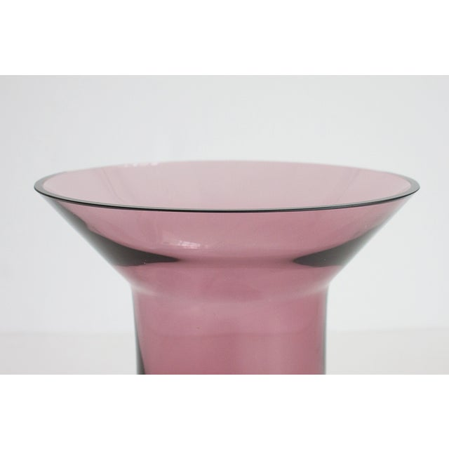 Image of Amethyst Purple Modern Crystal Glass Vase