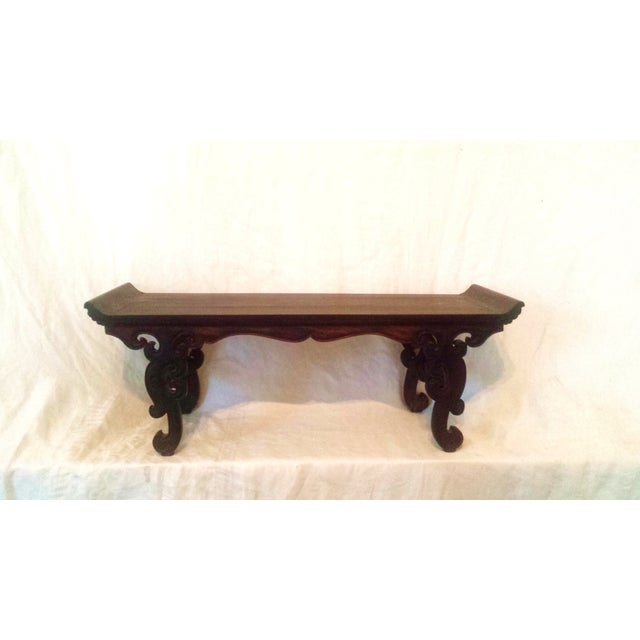 Small Antique Chinese Lacquered Wooden Altar Bench - Image 11 of 11