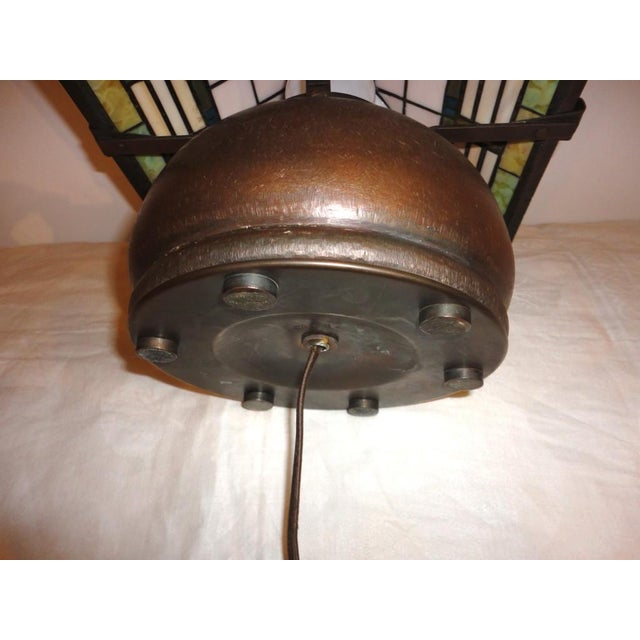 Fantastic Bronze Signed Arts & Crafts Table Lamp - Image 7 of 7