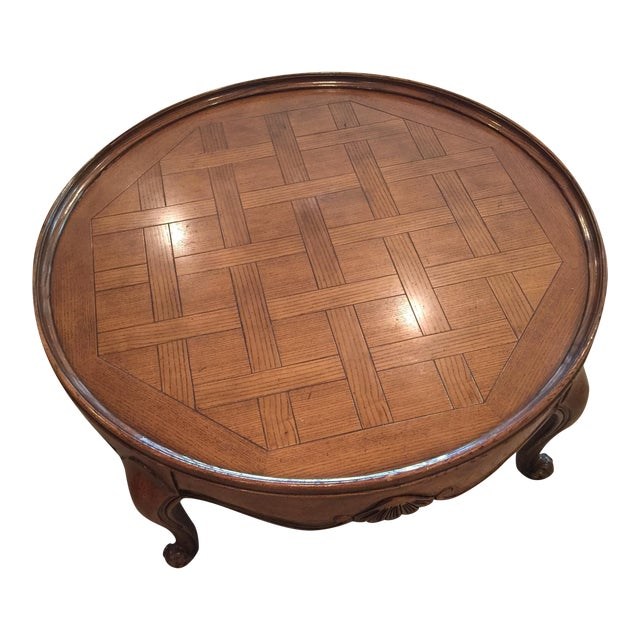 French Provincial Oval Coffee Table: Baker Round French Provincial Coffee Table