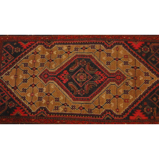 """Antique Persian Camel Rug - 4'4"""" x 6'4"""" - Image 2 of 4"""