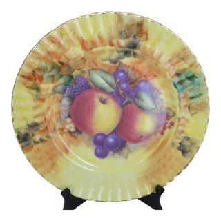 Hand Painted English Aynsley Signed Plate