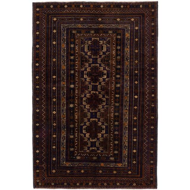 "Image of Finest Rizbaft Afghan Tribal Rug- 6'6"" X 9'10"""