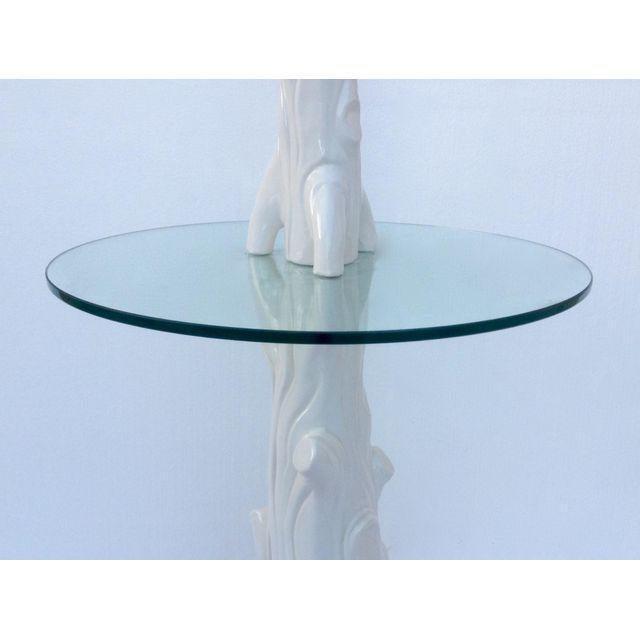 Mid-Century Porcelain Faux-Bois Floor Lamp - Image 5 of 11