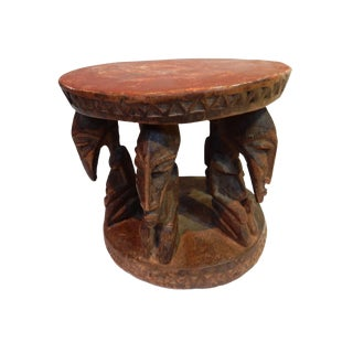 Old Wood Bamileke Milk Low Stool Cameroon