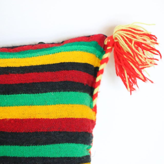 Handcrafted Moroccan Kilim Pillow II - Image 4 of 7