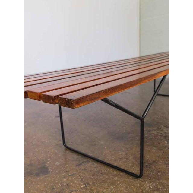 Modern Slat Bench - Image 3 of 7