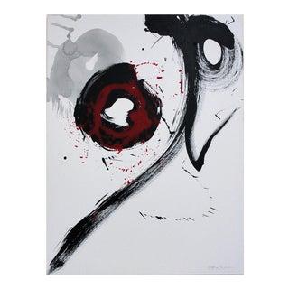 Nakajima Hiroyuki Sho Japanese Modern Art Calligraphy Fire Acrylic on Canvas