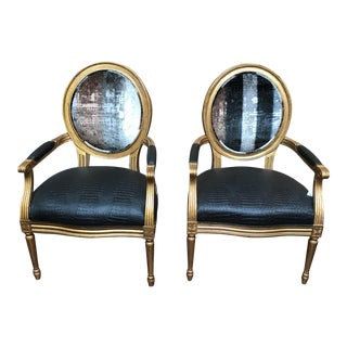 Transitional Cameo Chairs - A Pair