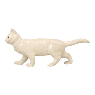 French Pottery Cat Figure