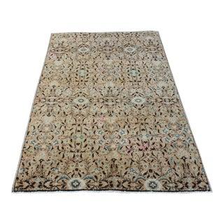 Handmade Anatolian Oushak Wool Rug - 4′4″ × 7′1″