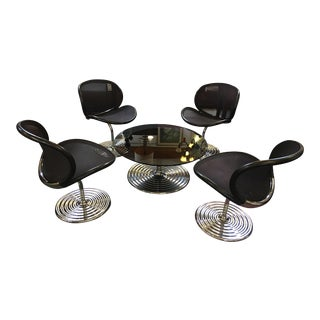 Vecta Group Smoked Glass & Chrome Dining Set