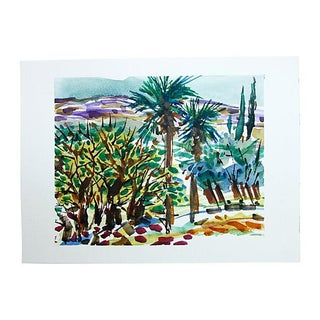 Palm Trees & Hills by Barbara Winkler